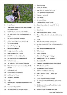 100 Ways to Love the Moment, with your child. This is adorable and most of the things we've done, but I love the ones we haven't and will be sure to do them soon :-) Kids are only little for SUCH a short amount of time, LOVE every second of it!