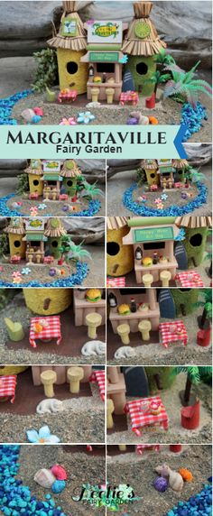 Margaritaville Fairy Garden. www.teeliesfairygarden.com . . . A lovely collection which your fairy folks would love. Give your enchanted friends a place to hang out and mingle with their friends and simply have a good time. Grab this one of a kind collection now! #fairysale