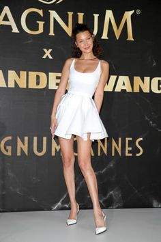 Bella Hadid || The 'Magnum Alexander Wang Collaboration Unveiling' Press Conference @ The 71st Cannes Film Festival (May 10, 2018)