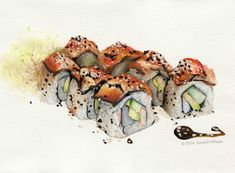 Eel Dragon Rolls, 2014 | byKendyll Hillegas