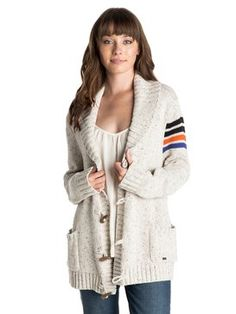 roxy, Cozy Cardi Sweater, egret (wbs0)