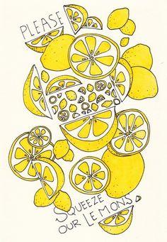 Obvious theme for my yellow kitchen theme. Obvious theme for my yellow kitchen theme. Lemon Art, Kitchen Themes, Pattern Illustration, Logo Design Inspiration, Art Sketchbook, Screen Printing, Doodles, Yellow Theme, Artwork