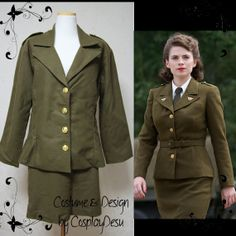 Peggy Carter Military Unifrom from Captain America