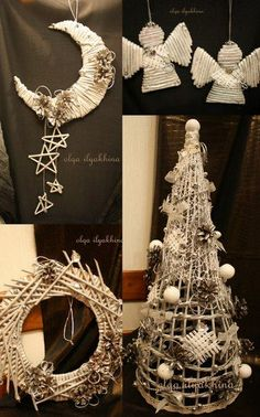 1 million+ Stunning Free Images to Use Anywhere Christmas Angel Crafts, Diy Christmas Tree, Christmas Makes, Christmas Ornaments, Handmade Decorations, Xmas Decorations, Magazine Crafts, Paper Weaving, Newspaper Crafts
