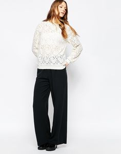 Image 1 of Selected Teo Wide Leg Trouser