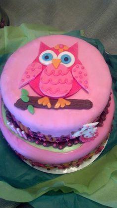 Top of Ellie's owl birthday cake :)