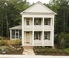 Serenbe home with double porches