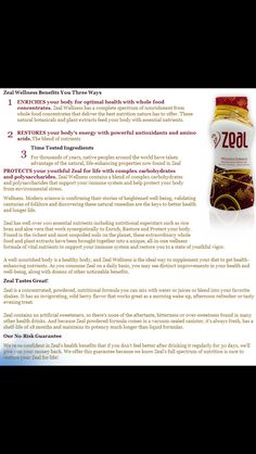 Zeal is great for wellness and to loss weight!!http://is.gd/thestevens