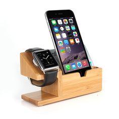 Cheap 2015 leatest pantalla para Apple reloj del cargador del muelle de madera…