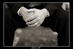 How often do we think to get a shot focusing on the grooms ring? Gotta  remember this photo!