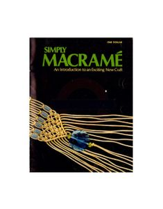 Simply Macramé - An Introduction to Macrame Instant Download PDF 24 pages Publication from 1971 in black and white An introduction to macrame with 6 sample projects: a chain belt, a hanging flower pot, a beaded choker, a gypsy belt, a wall hanging and a cover necklace. See pictures 2-4 for sample pages. Our PDFs are watermarked. Free PDF reader software can be downloaded from either www.adobe.com or www.foxitsoftware.com. All sales of instant download PDF patterns are final. Hanging Flower Pots, Beaded Choker, Pdf Patterns, Gypsy, Adobe, Software, Chokers, Belt, Black And White