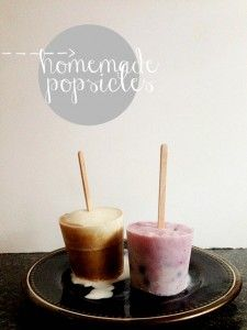 Homemade popsicles are the best on hot days! Here are some recipes for root beer float popsicles and blueberry yogurt popsicles.