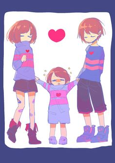 Which frisk will they grow up to be Sans E Frisk, Undertale Love, Anime Undertale, Undertale Memes, Undertale Ships, Undertale Drawings, Frisk Fanart, Toby Fox, Fan Art