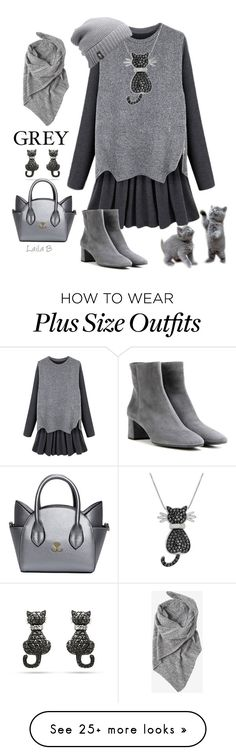 """""""Shades of grey."""" by laila-bergan on Polyvore featuring Prada, Amanda Rose Collection, The North Face and Toast"""