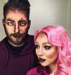 Dana Bomar Halloween werewolf makeup look
