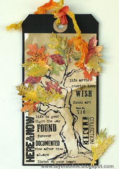 Layers of ink - Tim Holtz 12 tags of 2014 - September