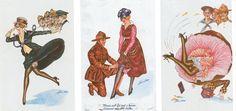 Carte Postale Postcard 1914-1918 Dessin La Française et les sammies soldats américains