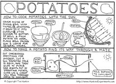science experiments that use potatoes and sunlight