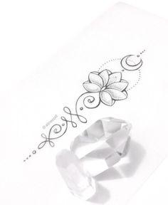 Unalome Tattoo Significado Fotos e Ideias! Pretty Tattoos, Love Tattoos, Beautiful Tattoos, Body Art Tattoos, Tattoos For Women, Unalome Tattoo, Sternum Tattoo, Tattoo Moon, Lottus Tattoo