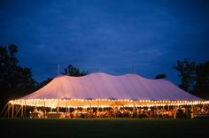 tent aglow   Jen Fariello #wedding