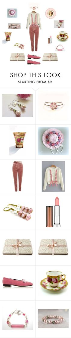 """""""Ivory pink"""" by einder ❤ liked on Polyvore featuring Topshop, Maybelline, Vivienne Westwood and Royal Albert"""