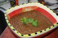 Stewed Lentils Caribbean Style.