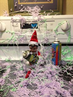 Elf on the Shelf has made a mess, but we are having fun..