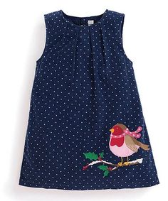 Navy Robin Appliqué Shift Dress - Infant, Toddler & Girls #zulily #zulilyfinds