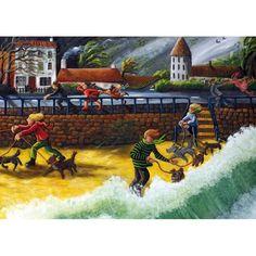 'Wild Walk' by Painter Sue Richardson. Blank Art Cards By Green Pebble. www.greenpebble.co.uk
