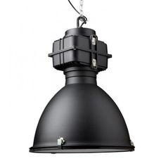Industriële lamp zwart Fabric