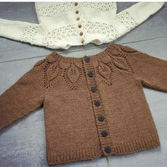 Best 12 Ravelry: Project Gallery for Bella pattern by Lene Holme Samsøe Baby Knitting Patterns, Baby Sweater Patterns, Knitting For Kids, Crochet For Kids, Baby Patterns, Crochet Baby, Knit Crochet, Cardigan Bebe, Knitted Baby Cardigan