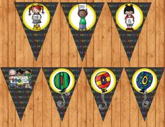 100th Day of School Pennant Banner INSTANT DOWNLOAD by PartyPotpourri, $7.00