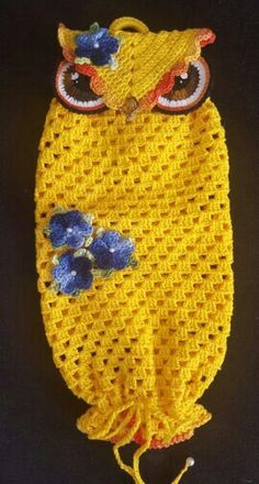 Puxa saco corujinha-por Cláudia Silveira. Tem o PAP no yotube.