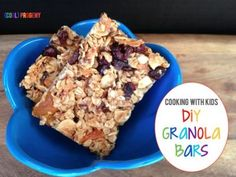 cooking with kids: diy granola bars