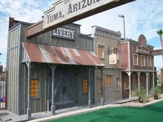 Wild west town facade and roof line