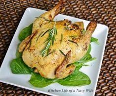Lemon Rosemary Cornish Game Hen Recipe | Paleo inspired, real food