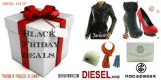 Black Friday Specials http://bodyauthentic.com/holiday-gift-guide-2012/  #jackets #Accessories #bags #Shoes #Rocawear #Diesel #BlackFriday #Deals