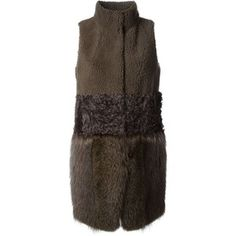 Meteo By Yves Salomon Lamb and Marmot Fur Long Vest