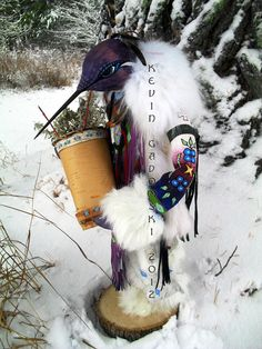 Purple Hummingbird Manitou (spirit or totem). $975.00, via Etsy.