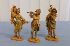 Girl carrying a jug measures 5 Shepherd measures 5 in height. Boy with flute measures 4 Fontanini Nativity, Flute, Boys, Women, Baby Boys, Flutes, Senior Boys, Sons, Tin Whistle