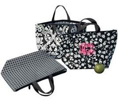 Personalized Black & White Print Insulated Cooler Bag by Two's Company Special Price ($7.95)
