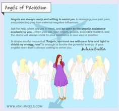 Call upon the Angels of Protection to energetically, psychically, physically and spiritually protect you at any time!   Click to learn more! >>   #protection
