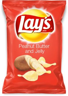 Peanut Butter and Jelly flavored chips!  Please go vote for my flavor now!  Thanks!!!!