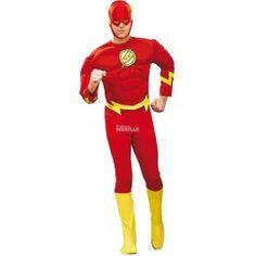 Disfraz de Flash - Disfraces Murillo Quieres ser aun mas rápido, no dudes en disfrazarte del superheroe mas rápido en Flash, con su supervelocidad iras de un lado a otro en poco tiempo.
