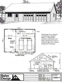 excellent 30x30 garage plans. 1200 4  40 x 30 2 Car Garage PlansGarage 3 Economy plans with One Story E816 34 24 by Behm