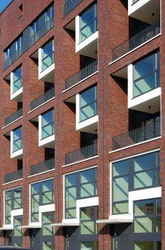 Wohn- und Geschäftshaus Pacamara Fassadendetail Foto: ©Axel Neubauer