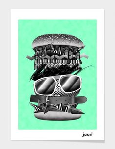 """""""Living lunch"""" - Limited Edition Print by jeanti for Curioos"""