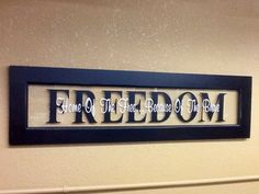 Home Of The Free.Because Of The Brave on Etsy Americana Bedroom, Shadow Box, New Homes, Craft Ideas, Unique Jewelry, Handmade Gifts, Crafts, House, Etsy
