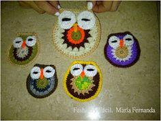 Cómo tejer buhos de crochet? (Crocheted owls DIY. How to crochet owls)