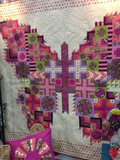 Wow that's quite a butterfly quilt, I like the mosaic look